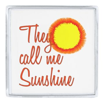 They call me Sunshine Silver Finish Lapel Pin