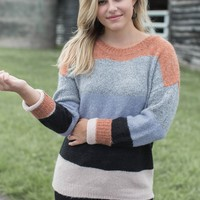 Rivers and Roads Sweater, Brick Multi