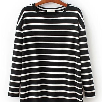 Horizontal Stripes Sweatshirt
