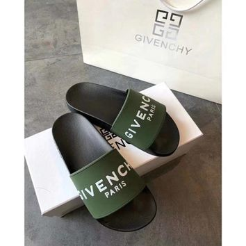 Green GIVENCHY SLIPPERS
