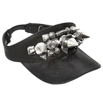Leather Visor Studded by KTZ