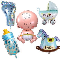 5pcs/lot Boy Girl Baby Beauty Shower Foil Balloon Party Decoration Toys