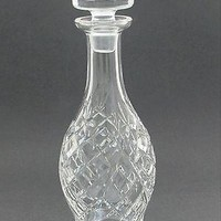 Signed Waterford glass Hand Cut Donegal pattern  decanter Irish Crystal