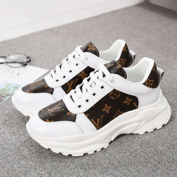 Kuyou Gx19712 Lv Louis Vuitton Womens Leather Sneaker