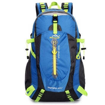 Fashion New Couple Hiking Backpack Ultralight Water-proof Oxford 40 L Backpack Upgrade Messenger Bag