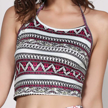 Aztec Crop Top Tank