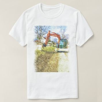 excavator nature and a house T-Shirt