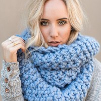 Magic Wrap Infinity Scarf - Periwinkle