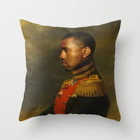 Kanye West - replaceface Throw Pillow by Replaceface