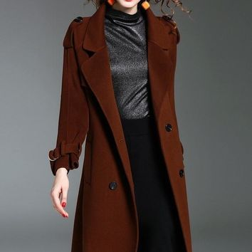 New England Wool Trench Coat