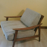Danish Modern Mid Century Arm Chair might be Koford Larsen for Selig Vintage