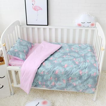 Adorable!! 3 Pc Pure Cotton Bedding Includes, Duvet Cover, Flat Sheet, And Pillowcase