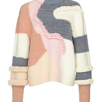 Heavy Knit Patchwork Turtleneck | Moda Operandi
