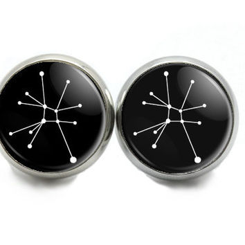 Zodiac Constellation Stud Earrings, Astrological Sign
