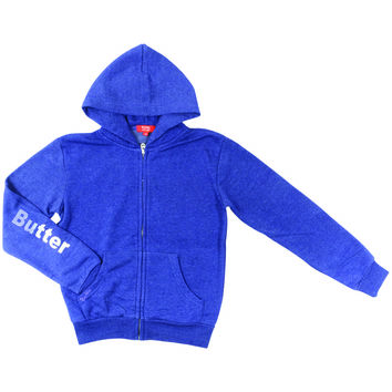 "Butter GIRLS ""AMERICAN GIRL"" ZIP HOODIE - Navy"