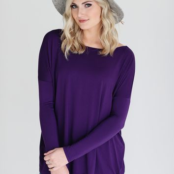 Grape PIKO Long Sleeve Top
