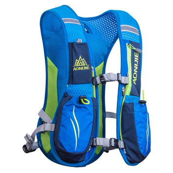 Outdoor Unisex Lightweight Running Backpack Sports Trail Racing Marathon Hiking Fitness Bag Hydration Vest Pack