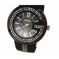 GUCCI Woman Men Rhinestone Quartz Watches Wrist Watch