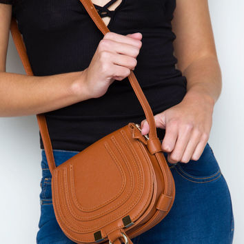 Sorelle Saddle Bag - Tan