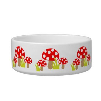 Mushrooms Pet Bowl