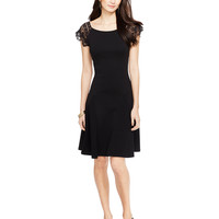 Lauren Ralph Lauren Lace-Sleeve Dress