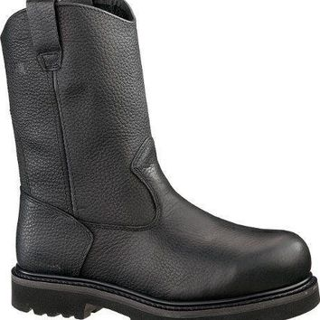 "Wolverine Wellington Steel Toe 10"" Mens Black Boots 9 M(D) Pull-On"
