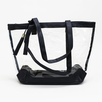 Clear Tote - Navy - Mary Square