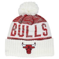 Chicago Bulls NBA Team Color Jacquard Stripe Pom Knit