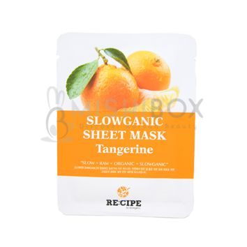 RE:CIPE Slowganic Sheet Mask (Tangerine) [EXP 08.18.2018]