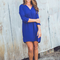 Easy Company Dress in Blue