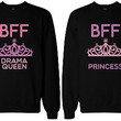 Cute Best Friend Sweaters - Drama Queen and Princess BFF Matching Sweatshirts