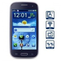 Unlocked 4.0 inch Quad Band Dual SIM Cell Phone with HVGA Touch Screen WiFi Analog TV (Royal Blue)