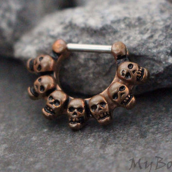 Skull Clicker in Wooden Copper