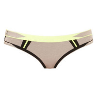Cecil Engineered Colorblocked Bikini Bottom