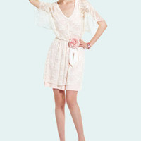 ideeli | CASUAL COUTURE Kimono Sleeve Lace Dress
