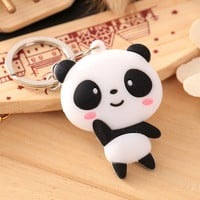 Keychain Panda Baymax Minions key chain car motorcycle line brown Rilakkuma key ring holder keyring Pendant chaveiros llaveros