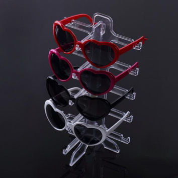 1pcs Show Stand Holder 5 layers SunGlasses Glasses Plastic Frame Display  Free Shipping Quality