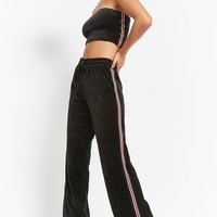Striped Velour Pants
