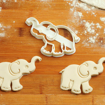 Elephant - Cookie Cutters  birthday favor party cake topper Fondant supplies gift cupcake fabric custom baby ideas design girl pin ear C215
