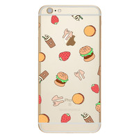 Burger Restaurant TPU Soft Silicon Transparent Clear Back Case Cover for Apple iPhone 4 4s 5 5s 5c SE 6 6s 6 Plus 6s Plus 7 & 7 Plus