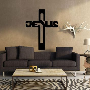 Jesus Cross Removable Wall Sticker Decal
