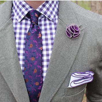 Lavender Floral Tie Boyfriend Gift Men's Gift Anniversary Gift for Men Husband Gift Wedding Gift For Him Groomsmen Gift for Friend Gift Idea