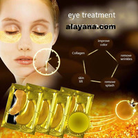 24K Gold Collagen  Face Treatment Mask Eye Mask Eye Patches Anti Aging Dark Circles remover Pouches Puffiness Face care