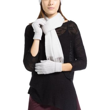 Women's 100% Pure Cashmere Hat, Glove, Scarf Set with Gift Box