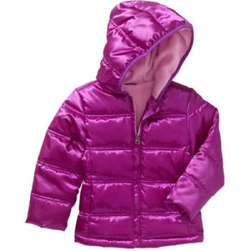 Healthtex Baby Toddler Girls' Bubble Jacket, 4T, Sparkling Orchid