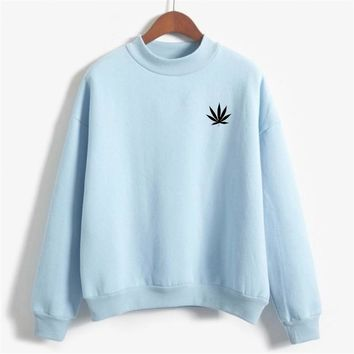Weed Plant pocket hoodies women Hemp leaves print Sweatshirts Marijuana Cannabis Leaf Graphic hoodie Autumn Winter hoody jumper