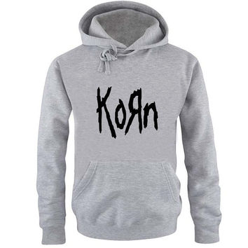 korn Hoodie Sweatshirt Sweater Shirt Gray and beauty variant color for Unisex size