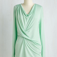 Mid-length Long Sleeve Early Morning Musings Lounge Top in Pistachio