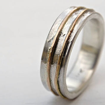 contemporary wedding ring molten mens wedding band silver gold rustic mens ring viking - Viking Wedding Rings