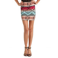 Bright Tribal Body-Con Skirt: Charlotte Russe